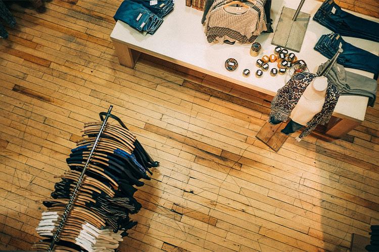 Fashionmarken im Laden